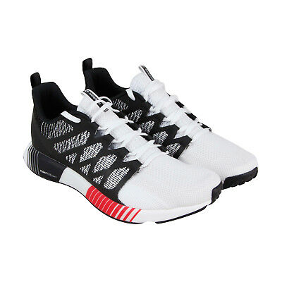 REEBOK FUSION FLEXWEAVE Mens Black Mesh Athletic Lace Up Running ... 3c7ad31fe