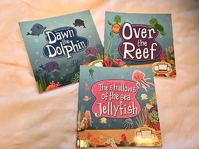 3x OCEAN SERIES THE SHALLOWS OF THE SEA JELLYFISH ACTIVITY BOOK ELC EARLY YEARS