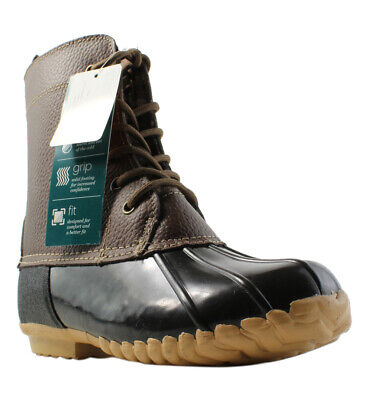 Collection Here Tommy Hilfiger Twviktoria Brown Rubber Rain Mud Snow Boots Womens Size 6 Women's Shoes