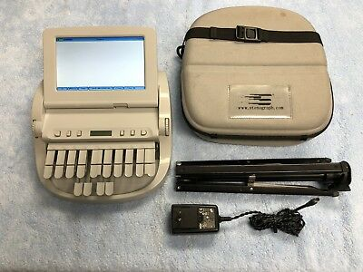 Stenograph Wave Student Writer Digital Typer Court Reporting with Tripod & Case