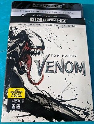 New Venom 2018 4k ULTRA HD & Blu-ray NO DIGITAL action/sci fi adventure movie