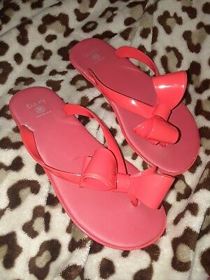 d6d71718b DIZZY Flip Flop Sandals Women s 7 38 (Medium) Coral Red Jelly Bowed Thong