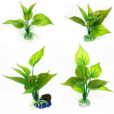Artificial Aquatic Plastic Plants Fish Aquarium Grass Ball Fish Tank Decor LD