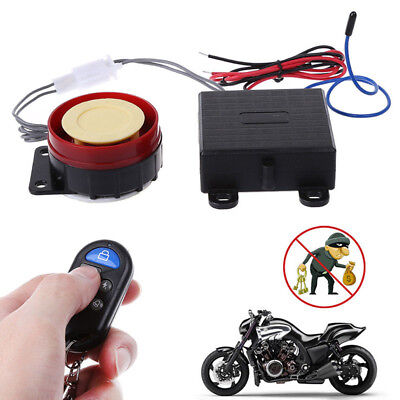 Motorbike Motorcycle Alarm System Anti-theft Immobiliser Security Remote-Control