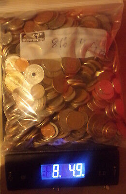 8 Pounds lbs 4.9 Ounces World Foreign Coins Nice MIx No Reserve...Lot 2222