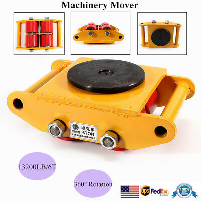 SALE 6T Machinery Mover Machine Dolly Skate Roller +360° Rotation Cap FREE SHIP