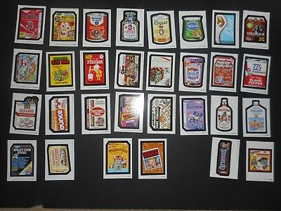 2018 Topps Wacky Packages Old School 7th Series 7 Complete White Set 30/30 NM