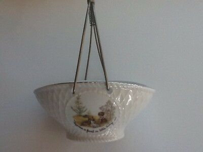 Holly Hobbie vintage porcelain patterned basket with handle 18x21cm  with handle