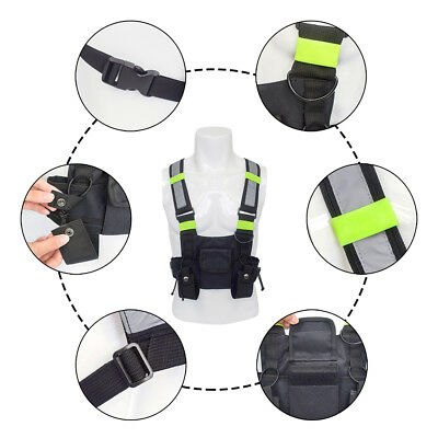 Radio Pocket Radio Chest Harness Chest Front Pack Pouch Holster Vest Rig Bag