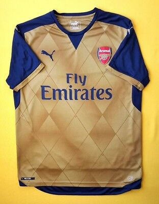 4.6 5 Arsenal jersey large 2015 2016 away shirt soccer football Puma ig93 3672b5c31