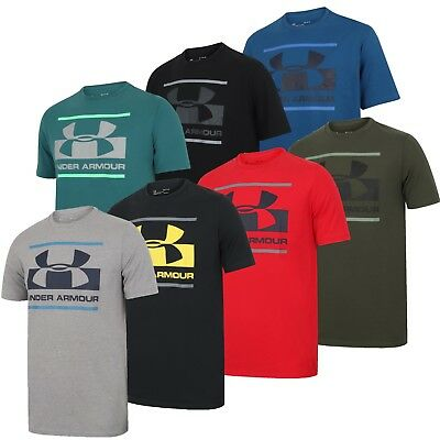 Under Armour Mens Blocked Sportstyle Logo Charged Cotton Crew T-Shirt UA Tee