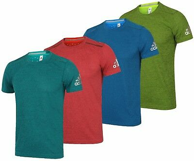 adidas Mens climachill Slim Fit Crew Running T-Shirt Training Workout Gym Tee