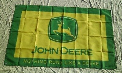 John Deere Tractor 3' X 5' Polyester Flag Banner Man Cave Bar Shop NEW # 146