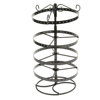 168-Hole Earrings Jewelry Rotating Display Stand Rack Holder Organizer Black