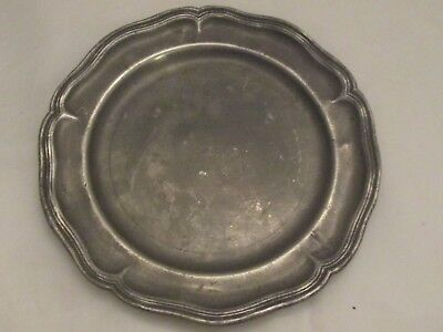 19th Century French Pewter Side Plate / Platter - Touchmark - IB