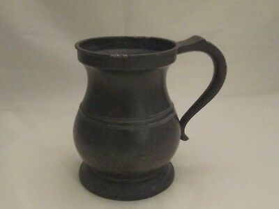 19th Century Pewter Quart Tankard by James Yates