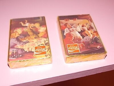 1970's era SEALED in the original cellophane  decks-- 2 sealed coke decks