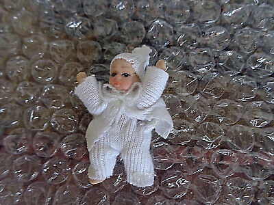 Miniature porcelain Baby Dolls' House Doll 5cms, Victorian style