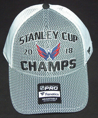 official photos 34acb d57b1 ... store new fanatics washington capitals nhl hockey 2018 stanley cup  champs trucker hat b355f f15f2