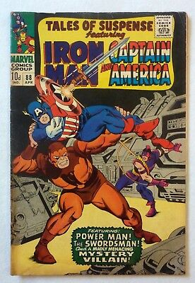 Tales Of Suspense 88 Iron Man Captain America Silver Age VG+/NF- Condition 1967