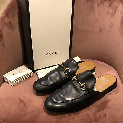 5d5d5a135 Men's Gucci Horsebit Slippers Loafers UK 6.5 40.5 Black Leather Shoes RRP:  £515!