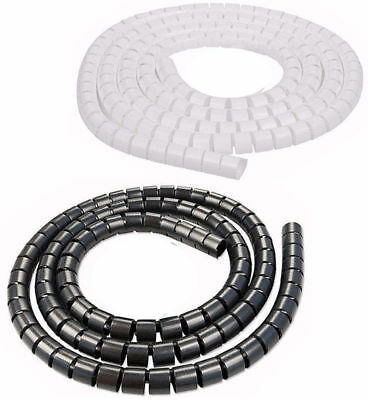 2 Metre Cable Tidy PC TV Wire Organising Wrap Spiral Office Home lot sm