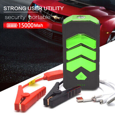 600A 15000mAh Car USB Jump Starter Battery Car Charger Booster Rescue SOS  UK