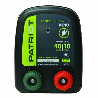 Patriot - PE10 Fence Energizer - 0.30 Joule for electric fence