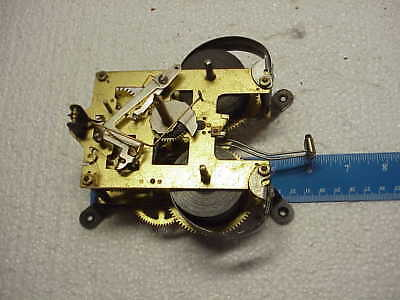 Vintage Used Rear Mount 30 Day Clock Movement parts repair F