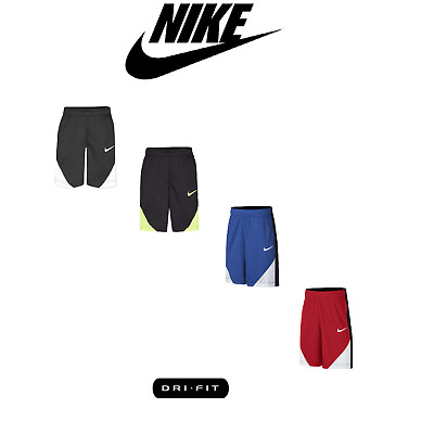 New Nike Dri-fit Colorblocked Shorts, Little Boys