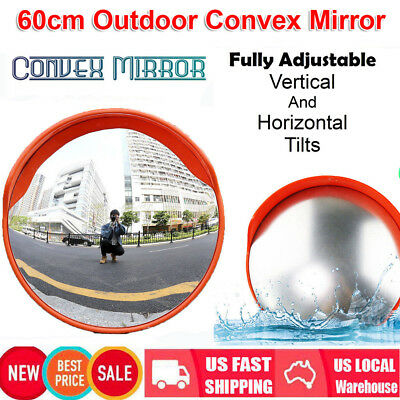60cm Traffic Safety Outdoor Indoor Mirror Angle Convex Security Wall Pole Dome