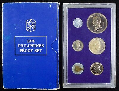 1974 Philippines Proof Set ~ KM#PS7 Not Released to Public ~ Tough to Find  J268