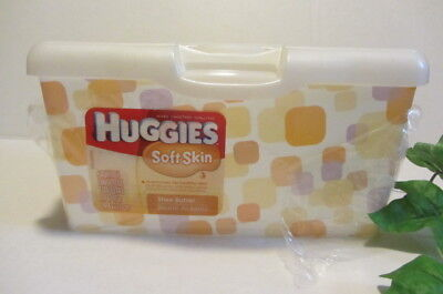 Huggies Baby Wipes Container With Pop-Up Lid Lavendar / Peach (Empty) New