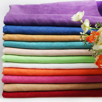 Faux Suede Fabric DIY Suedette Upholstery Cushion  Plain Dressmake 1*1.5meters