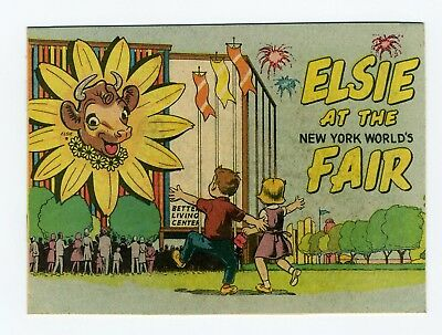 Orig 1964 Nywf - Elsie At The New York World's Fair - Pavilion Comic Book Unread