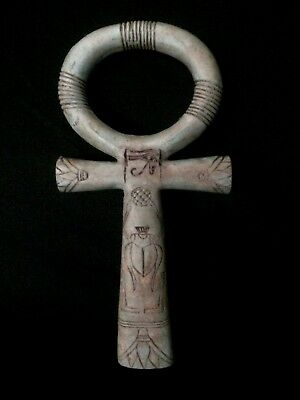 Ancient Egyptian Antiques Ankh Key of Life Egypt Old Carved Stone 3150 BCE