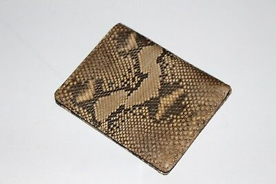 100% Real Genuine Python Snake Skin Leather Wallet Brown Men's Bifold Purse