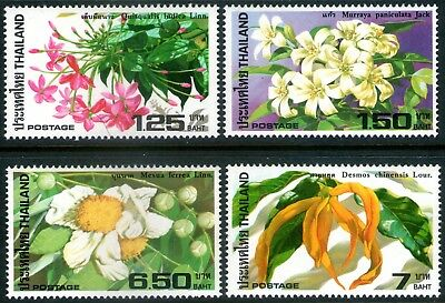 Thailand 1982 Flowers set of 4 Mint Unhinged