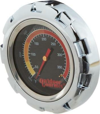 """LARGE 4"""" Stainless Steel Gourmet Temperature Thermometer Gauge Grill Smoker BBQ"""