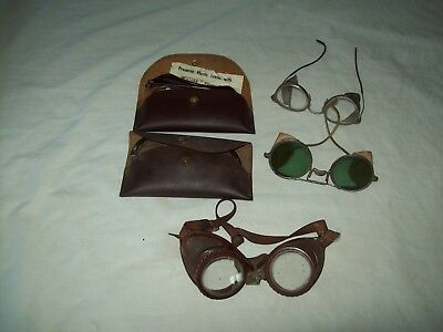 lot of  5 Vintage safety Glasses /Goggles Willson Feather spec  Bausch & Lomb
