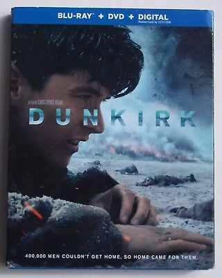 Dunkirk. Blu-Ray Disc + Dvd. Viewed Once. W/ Slipcover. See Note.