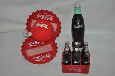 Coca Cola Gifts >> Vintage Trio Coca Cola Items Spinning Top Bottle Hand Ball Catch 6 Pk Cokes Euc