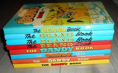 Lot Of 8 Excellent Condition Beano  And Dandy Comic Annuals. 1976 To 1991
