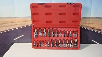 Mac Tools 25 PC Star and Tamper-Resistant Torx TP Driver Set Chrome SMXT25B H5