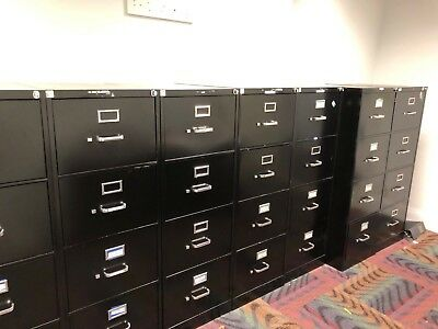 4 DRAWER LEGAL SIZE FILE CABINET by HON OFFICE FURNITURE w/LOCK&KEY