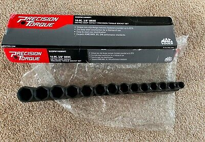 "MAC Tools 14-PC. 3/8"" DRIVE METRIC DEEP IMPACT SOCKET SET - 6-PT. NEW"