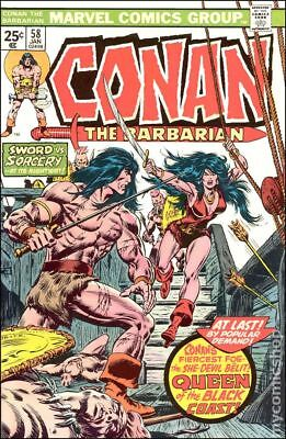 Conan the Barbarian (Marvel) #58 1976 FN Stock Image