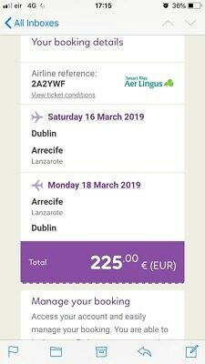 Flight tickets Dublin to Lanzarote