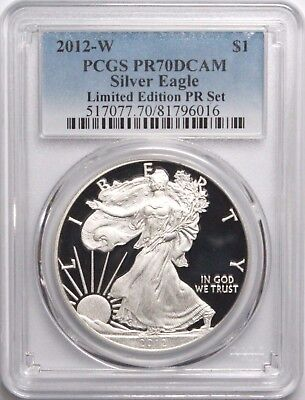 2012-W $1 American Silver Eagle Limited Edition Proof Set PCGS PR70DCAM