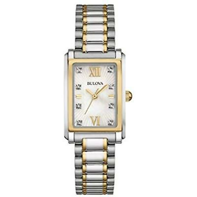 Bulova Wrist Watches Women's 98P144 Analog Display Quartz Two Tone